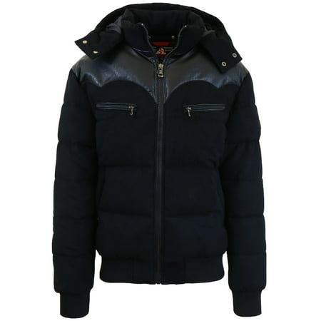Mens Heavyweight Western Puffer Jacket (Mens Duster Coat)