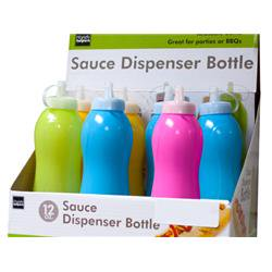 Bulk Buys HW744-12 Sauce Squeeze Bottle Countertop Display - 12 Piece Large 12 Piece Display