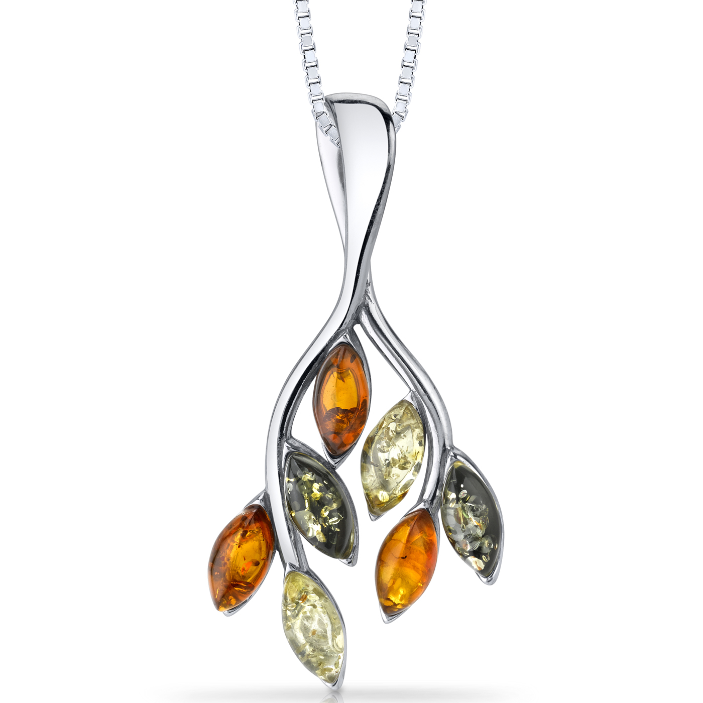 Hope Love Sterling Silver Natural Baltic Amber Cross Pendant Faith