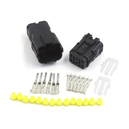 1 Kit 6 Pin Way Waterproof 1.8mm Wire Connector Plug Car Sealed Electrical Set