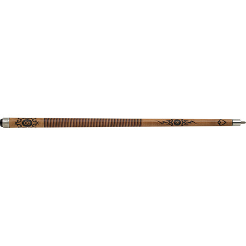 Outlaw Cues Two Toned Stacked Saddlebag Leather Wrap Cue