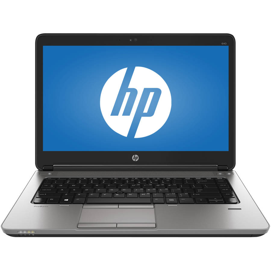 "HP ProBook 640-G1 14"" Business Laptop, Windows 10 Pro, Intel Core i5-4300M Processor, 4GB RAM, 128GB Solid State Drive"