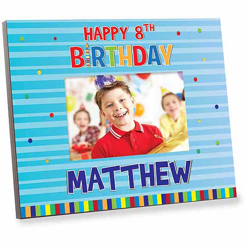 Personalized Blue Happy Birthday Frame