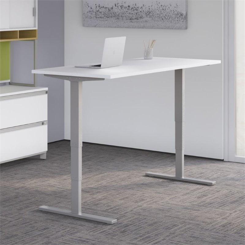 "Scranton & Co 72"" Height Adjustable Standing Desk in White"
