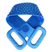 Silicone Back Scrubber, Bath Shower Silicone Body Massage Brush Silicone Bath Towel Exfoliating Body Brush Belt, Cleaning Shower Strap, Double-Sided Washing Towel Scrubber for Men Women