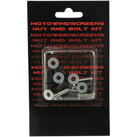 Windscreen Bolt Kit - MotoBrackets Windscreen Nut and Bolt Kit Fits 2003-2008 Kawasaki ZX6R