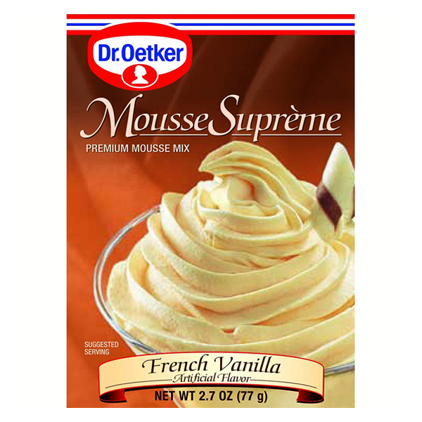 Dr. Oetker French Vanilla Mousse 2.7 oz Boxes Pack of 6 by