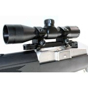 ruger model 14 ruger model 30 hunting sight 4x32 with picatinny base rail tacticical mil dot reticle black.