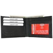 New Mens's RFID blocking genuine leather wallet RFID1160CFBK