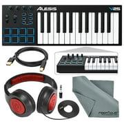 Alesis V25 25-Key USB MIDI Keyboard Controller & Drum Pad with Samson Over-Ear H