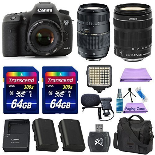 Canon EOS 7D Mark II Digital SLR Camera + Canon EF-S 18-135mm f 3.5-5.6 IS STM Lens + Tamron 70-300mm Lens +... by Paging Zone