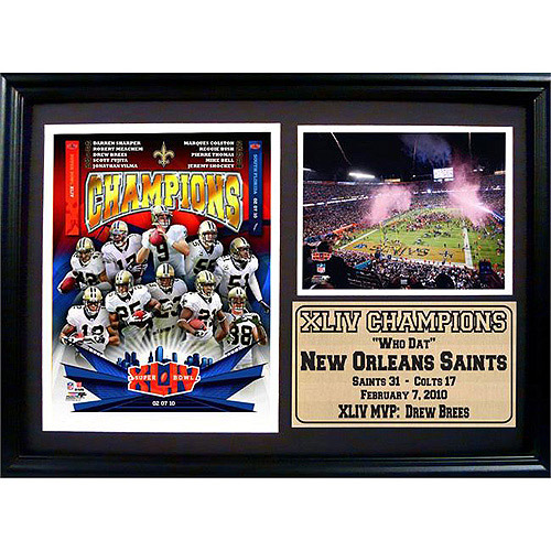 NFL New Orleans Saints Champions Photo Stat Frame, 12x18