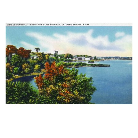 Bangor, Maine, Highway to Bangor View of the Penobscot River Print Wall Art By Lantern Press](Party City Bangor Maine)
