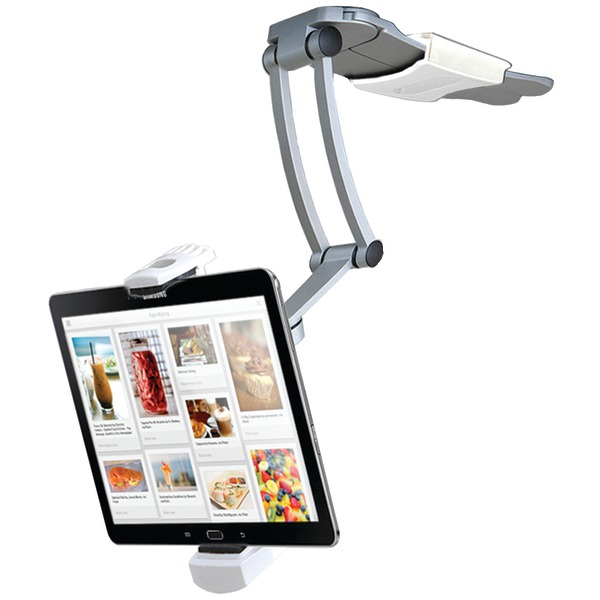 "CTA Digital PAD-KMS iPad Air(R)/iPad mini(TM)/Surface(TM) Pro 4 & 7""-12"" Tablets 2-in-1 Kitchen Mount Stand"