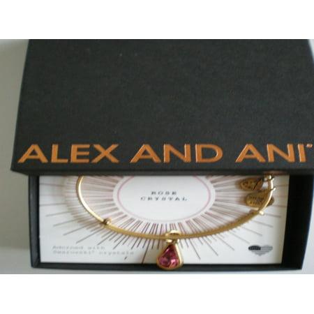 Alex and Ani October Birth Month Charm Bangle With Swarovski Crystal Teardrop Shape Rafaelian (Alex And Ani Horse Pull Cord Bracelet)