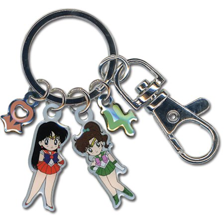 Key Chain - Sailor Moon - New Sailor Jupiter & Mars Metallic Anime