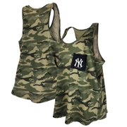 New York Yankees New Era Women's 2021 Armed Forces Day Plus Size Brushed Camo Racer Back Tank Top - Green/Black