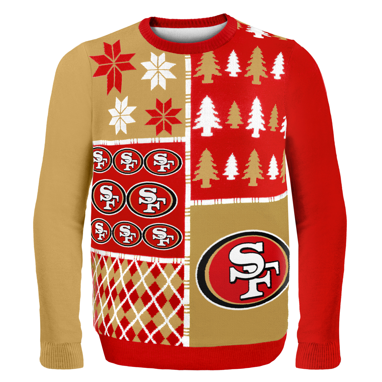 San Francisco 49ers Busy Block Nfl Ugly Sweater Xx Large