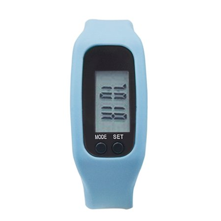 Pedometer Sports Monitor Running Exercising Step Counter Silicone Wristband - image 6 of 9