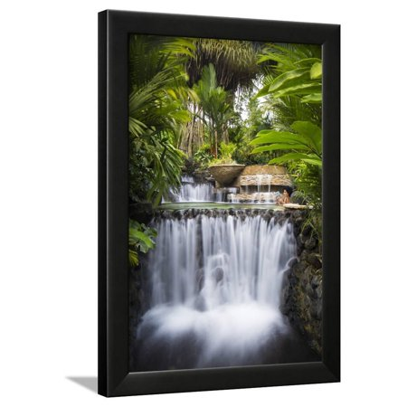 Costa Rica, Alajuela, La Fortuna. Hot Springs at the Tabacon Grand Spa Thermal Resort Framed Print Wall Art By Nick