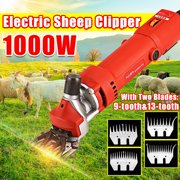 Best Animal Clippers - (6 Speed Adjustable,Curved/Straight Blade) 1000W 9-tooth/13-tooth Electric Shearing Review