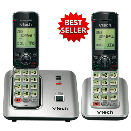 VTech CS6619 Cordless Phone System W/ Extra handset & Expandable Up To 5 Handsets