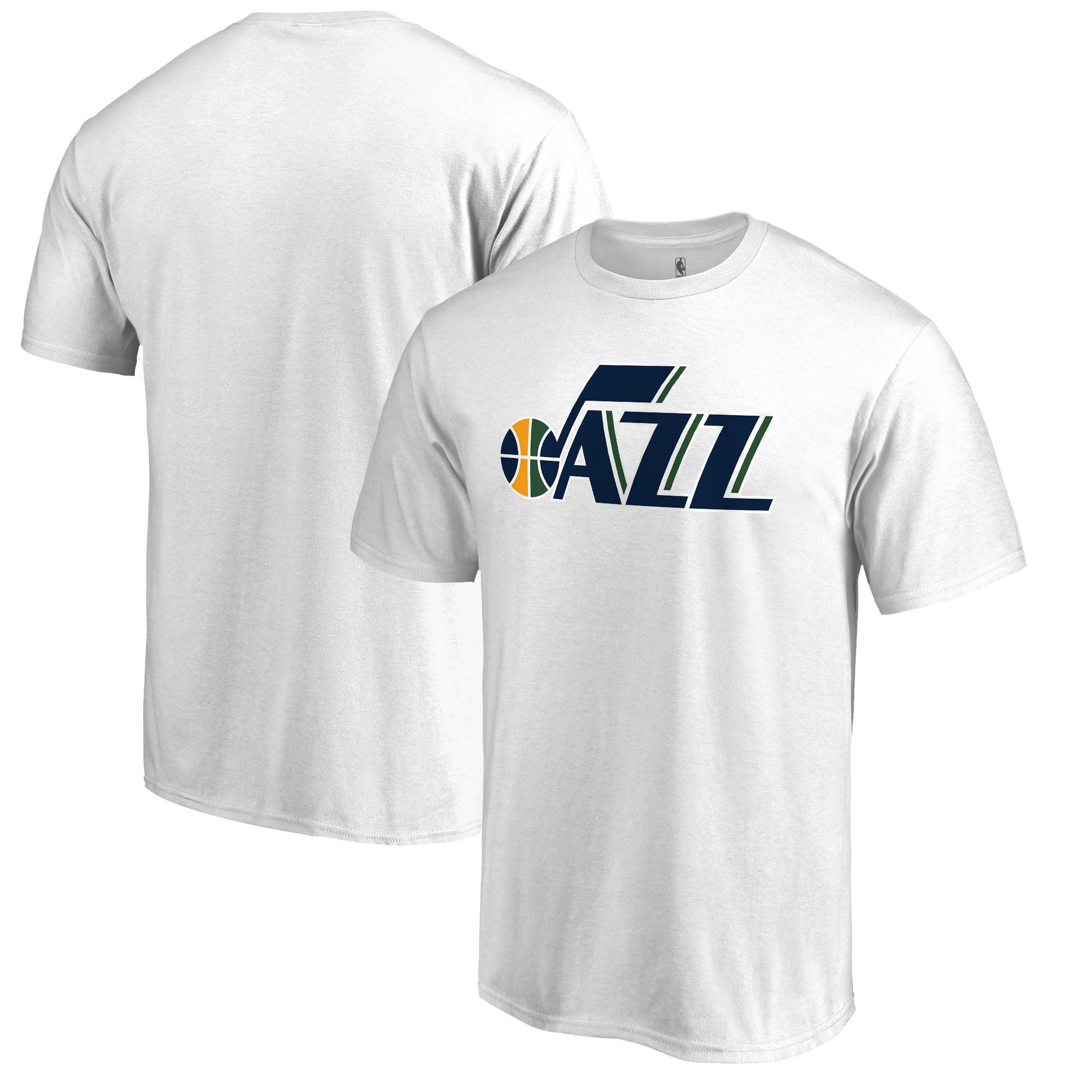 Utah Jazz Fanatics Branded Primary Wordmark T-Shirt - White