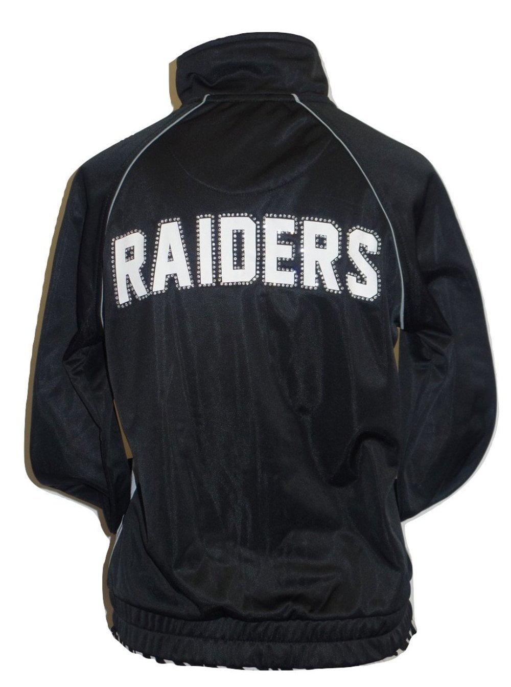 e51b8257 Oakland Football Raiders Women's Track Jacket with Rhinestone Accents