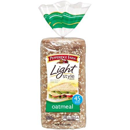Pepperidge Farm Light Style Oatmeal Bread 16 oz. Bag - Walmart ...