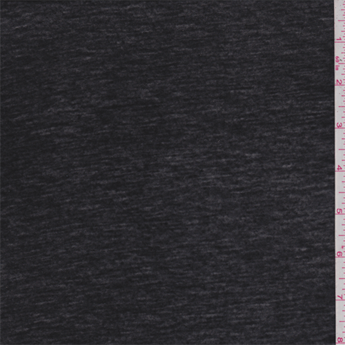 Soft Black T-Shirt Knit, Fabric By the Yard