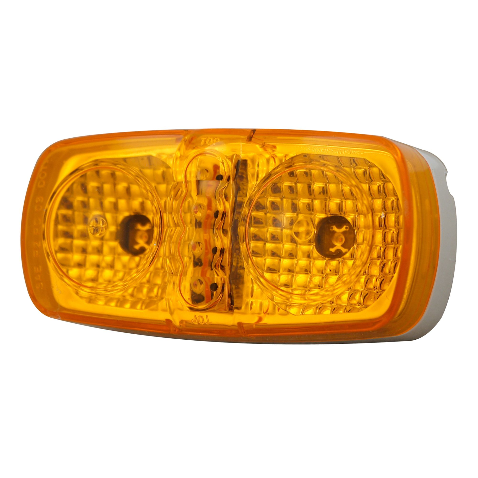 Pilot Automotive NV-5056A 12 Volt 4 inch Dual LED Side Marker / Reflector-Amber Size: 4 x 1-1/8  x 2