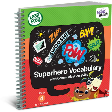 LeapFrog LeapStart 1st Grade Activity Book: Superhero Vocabulary and Communication Skills