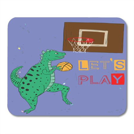 LADDKE Slogan Dinosaurs Playing Ball for Modern Patch and Tee Mousepad Mouse Pad Mouse Mat 9x10 (Top 100 Slogans On Environment For All Occasions)