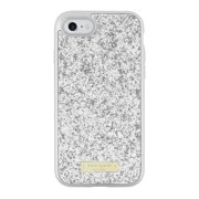 Kate Spade New York Exposed Glitter Case with Metallic Bumper for iPhone 7 - Silver/Exposed glitter silver