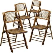 Flash Furniture 4pk American Champion Bamboo Folding Chair by Flash Furniture