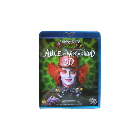ALICE IN WONDERLAND DISNEY 3D BLU RAY DISC  - NEW