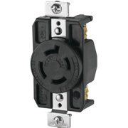 Eaton Wiring Devices AHL1520R Single Receptacle, 20 A, Black