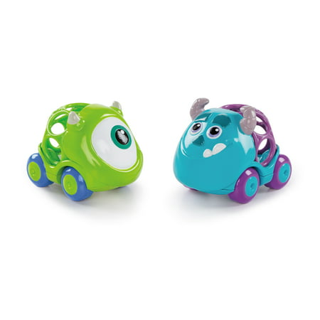 Bright Starts Disney Baby Go Grippers Collection Push Cars - Monsters Inc., Ages 12 months +