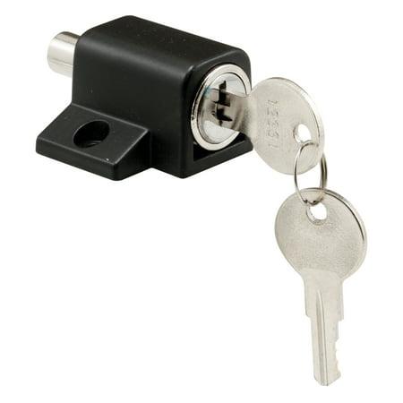 Prime-Line Products S 4005 Black Finish Push-In Sliding Door Keyed Lock