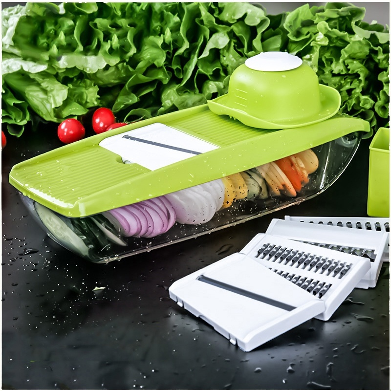 Vegetable Cutter with 5 Blades Potato Carrot Grater for Vegetable Onion Slicer