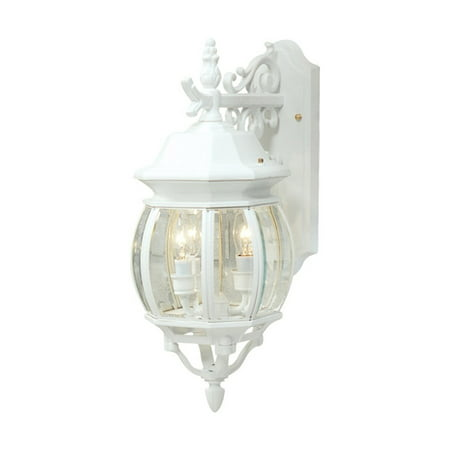 Wall Sconces 3 Light Bulb Fixture With White Finish Cast Aluminum Candelabra 8