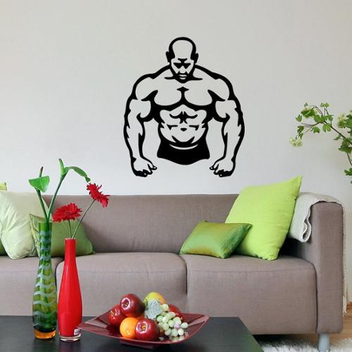 Bodybuilder Fitness GYM Decor crossfit Vinyl Wall Art