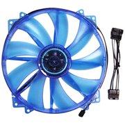 Apevia Cf20sl-ubl 200mm Uv Blue Led Case Fan