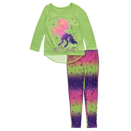 "Komar Kids Little Girls' ""Pretty Awesome"" 2-Piece Pajamas - image 1 of 1"