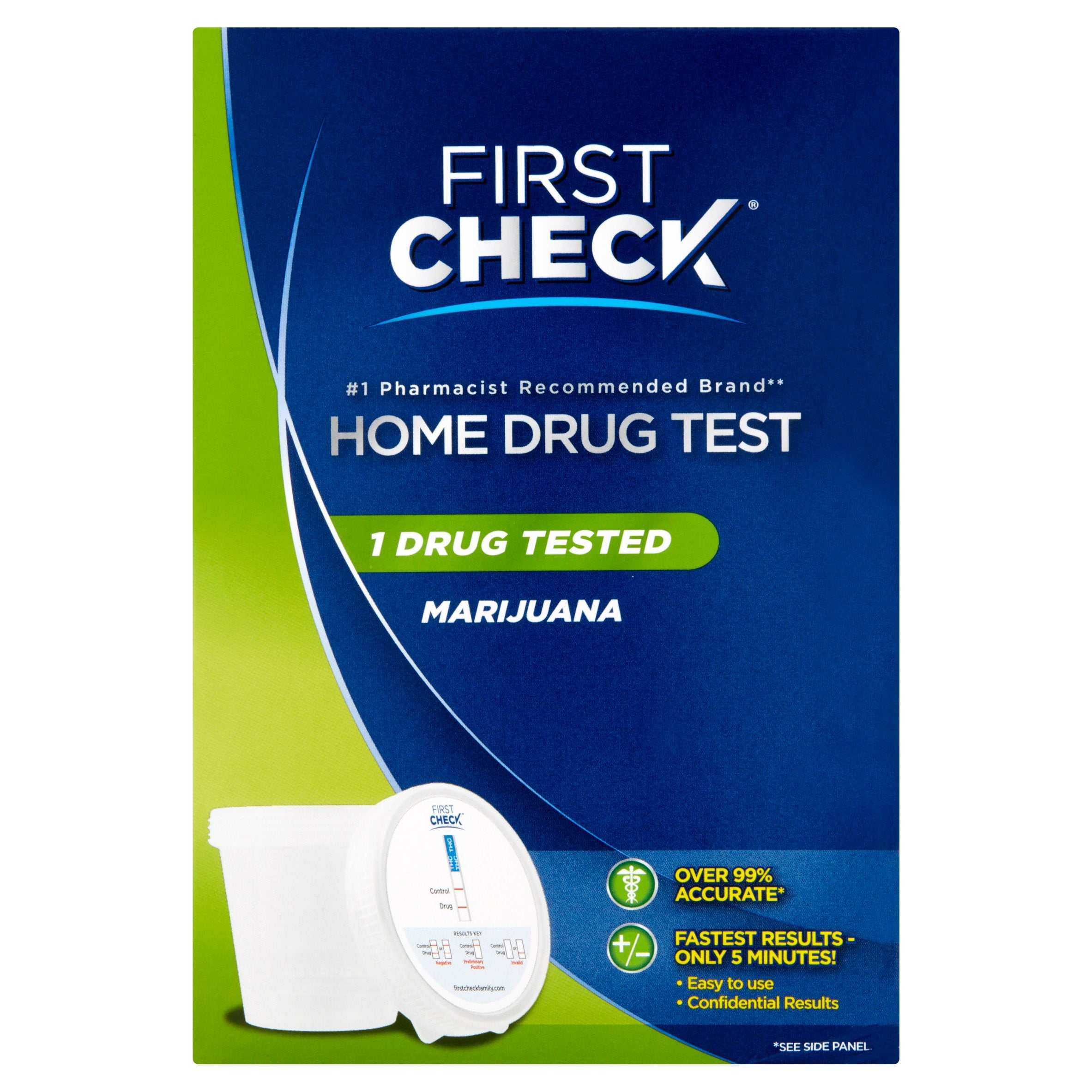 First Check Single Panel Drug Test, Marijuana, 1 Ct
