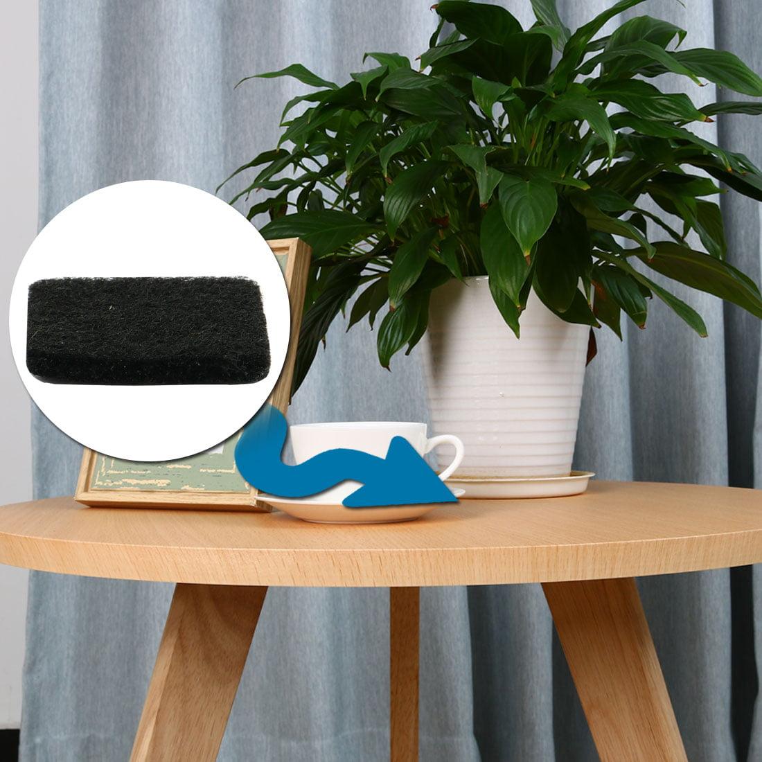 Furniture Rubber Square Feet Antiskid Adhesive Pad Floor Protector Black 64pcs - image 1 of 3