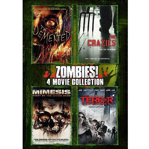 Zombies!: 4 Movie Collection - The Demented / The Crazies / Mimesis / The Terror Experiment