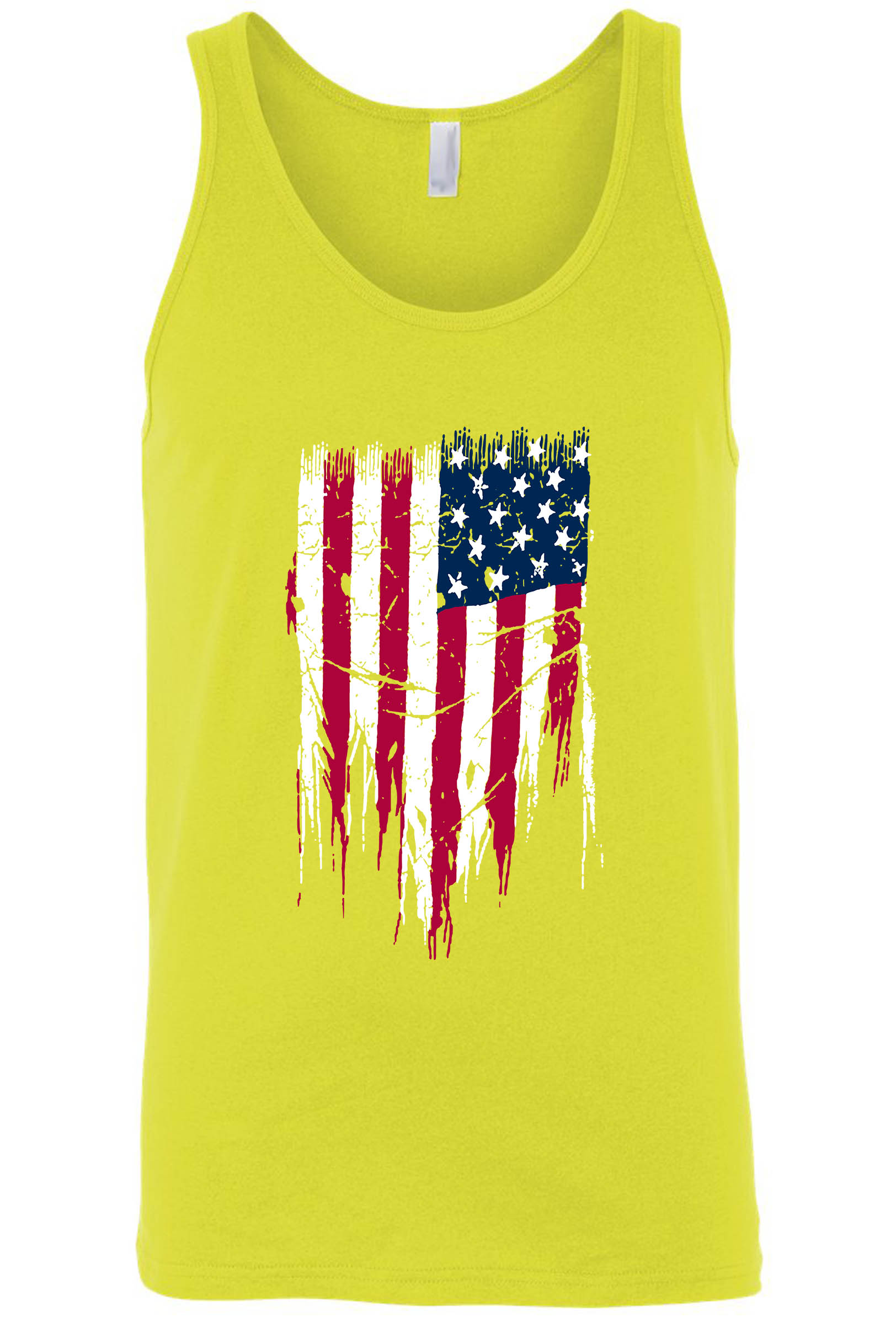 Men's/Unisex Ripped USA Flag Tank Top Shirt
