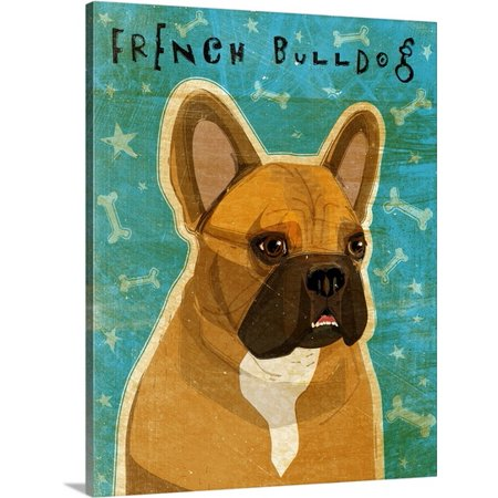 Great Big Canvas John W  Golden Premium Thick Wrap Canvas Entitled French Bulldog Fawn