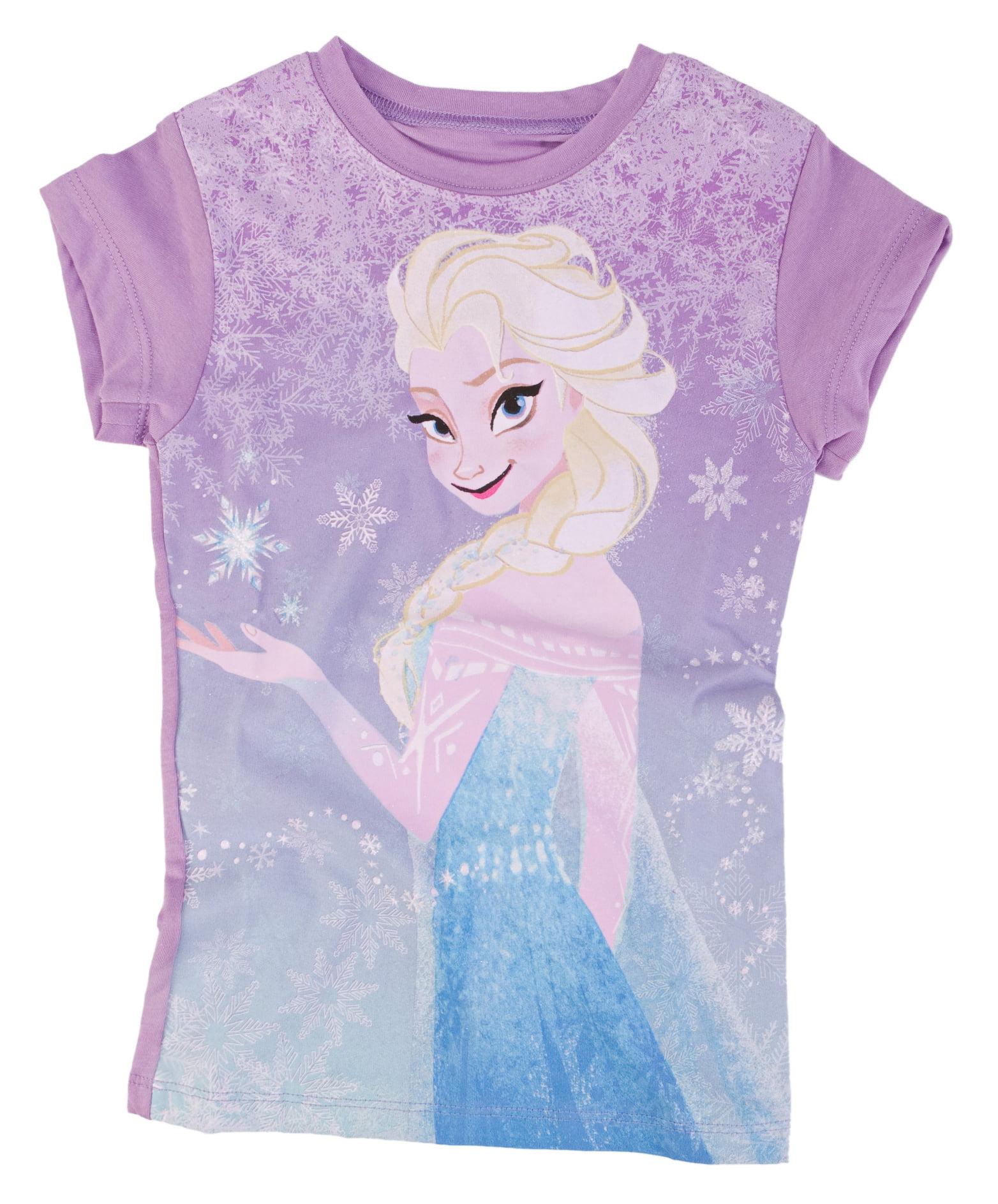 Disney Frozen Snowy Elsa Juniors Purple T-Shirt | XL